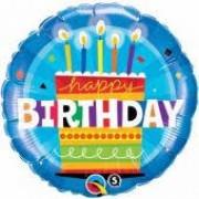"BALAO METALIZADO HAPPY BIRTHDAY 18"" QUALATEX 16695"