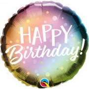 BALAO METALIZADO HAPPY BIRTHDAY OMBRE COLORIDO 88027 QUALATE