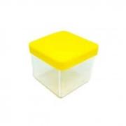 Caixa Acrilica 5cm Tampa Amarela Massari c/10