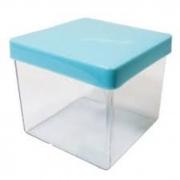 Caixa Acrilica 5cm Tampa Azul Bebe Massari c/10