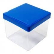 Caixa Acrilica 5cm Tampa Azul Royal Massari c/10