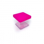 Caixa Acrilica 5cm Tampa Pink Massari c/10
