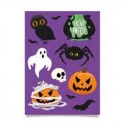 Cartela Adesiva Noite do Terror Halloween Cromus c/2