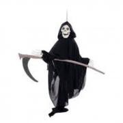 Caveira com Foice Som e Movimento Halloween Cromus