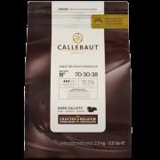 CHOCOLATE AMARGO 70,5% GOTAS CALLEBAUT 2,5KG