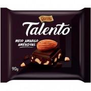 CHOCOLATE MEIO AMARGO COM AMENDOAS TALENTO 90G