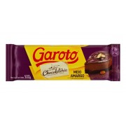 CHOCOLATE MEIO AMARGO GAROTO 500G