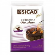 COBERTURA CHOCOLATE MEIO AMARGO GOTAS SICAO 2,05KG