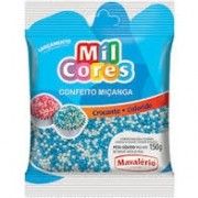 CONFEITO MICANGA BRANCA/AZUL MAVALERIO 150G