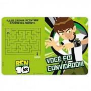 CONVITE BEN 10 REGINA FESTAS C/8
