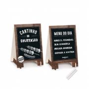Kit Cavalete Lousa Churrasco Cromus c/2