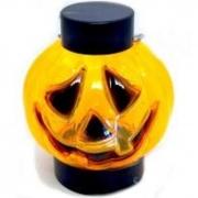 Lanterna Abobora com luz Halloween 9cm Silver Festas