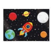 Painel 4 Laminas Astronauta Cromus