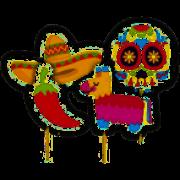 PICK LONGO DECORATIVO MEXICANO JUNCO C/4