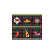 QUADRINHOS DECORATIVOS MEXICANO JUNCO C/6