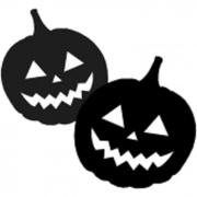 Silhueta Decorativa Abobora Halloween Cromus c/2