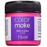 TINTA FACIAL PINK FLUORESCENTE 15ML COLORMAKE