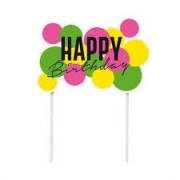 TOPO DE BOLO HAPPY BIRTHDAY NEON CROMUS