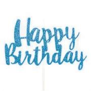Vela Happy Birthday Azul Claro G Cromus