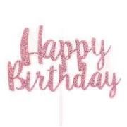 Vela Happy Birthday Rosa Claro G Cromus
