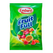 BALA FRUIT FULL FRUTAS EMBARE 660G