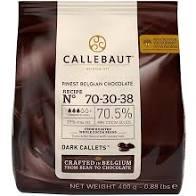 CHOCOLATE AMARGO 70% GOTAS CALLEBAUT 400G