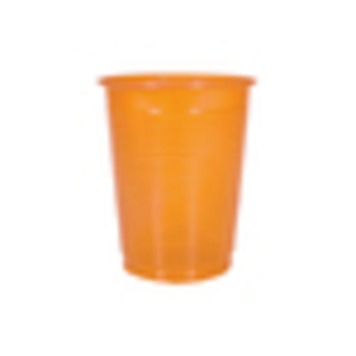 COPO PLASTICO 200ML LARANJA KAIXOTE C/50