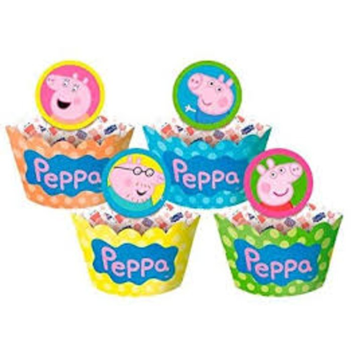 CUPCAKE WRAPPER PEPPA REGINA FESTAS C/12