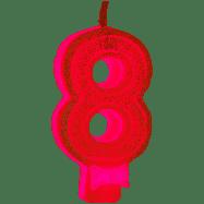 VELA 8 ROSA GLITTER REGINA FESTAS