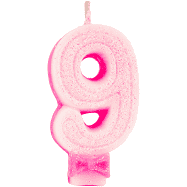 VELA 9 ROSA GLITTER REGINA FESTAS