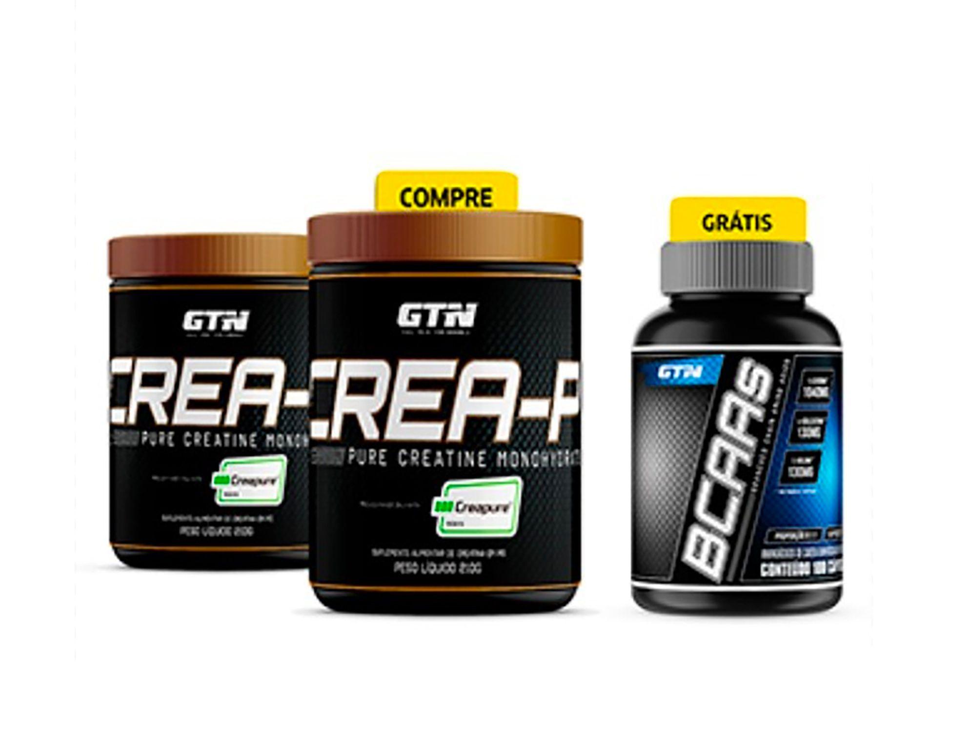 COMPRE E GANHE: Crea-P Creatina 100% Creapure® - COMBO 2x210g + BCAA 100 Capsulas GRÁTIS!