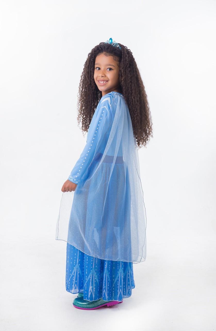 Fantasia Princesa do Gelo -  Azul