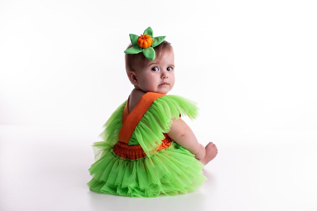 Fantasia Abóbora Halloween Bebê