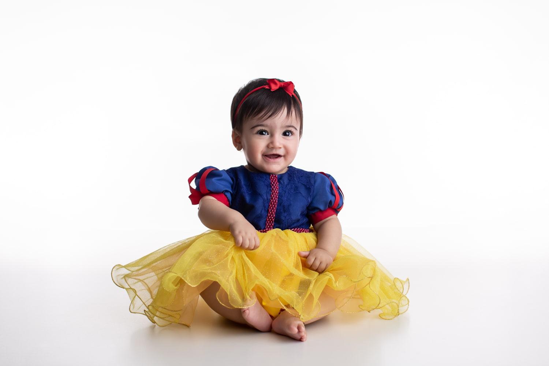 Fantasia Princesa Branca de Neve- Bebê