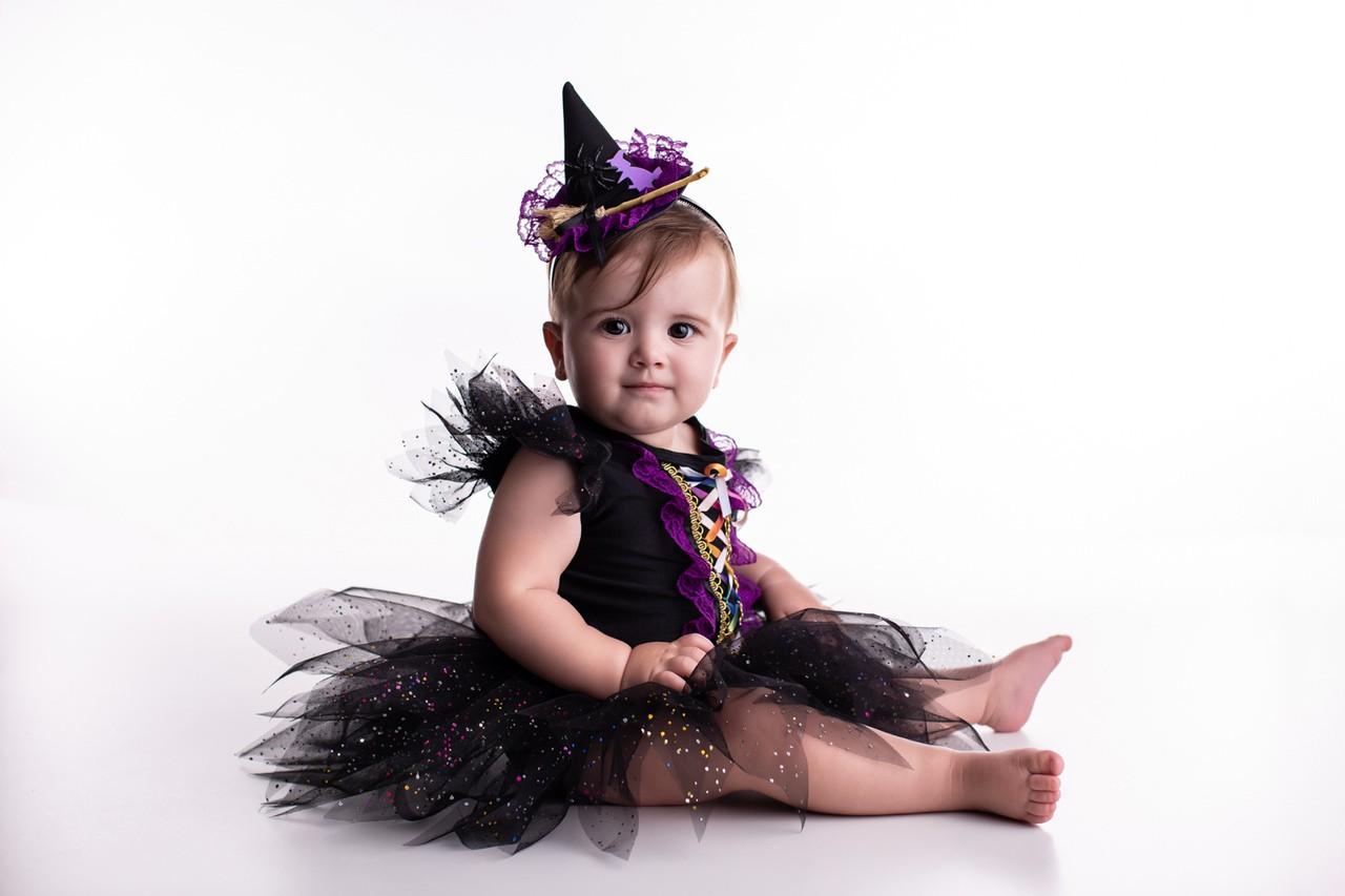 Fantasia Bruxinha Halloween Bebê