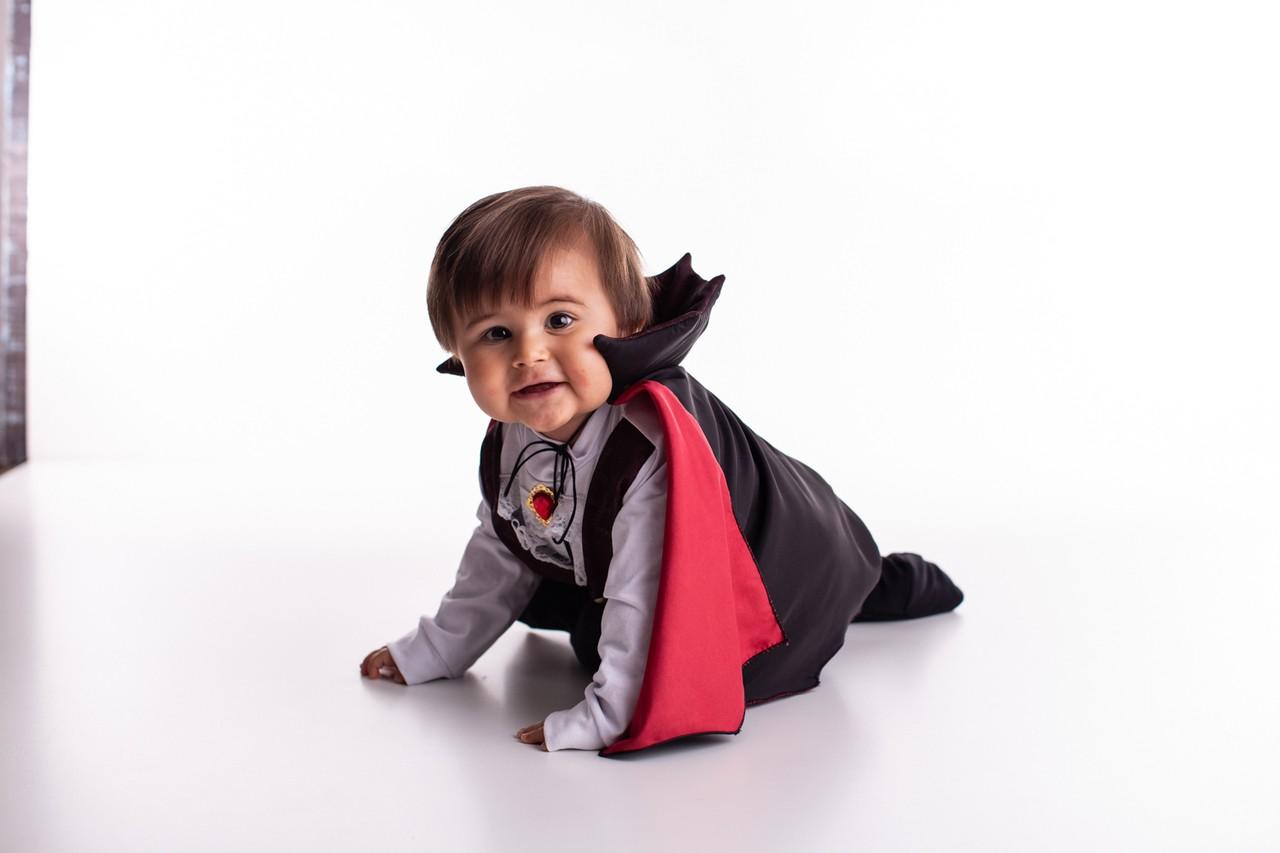 Fantasia Vampiro Halloween Bebê