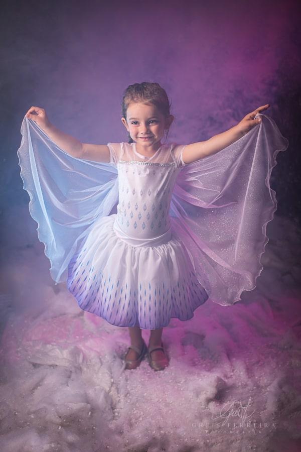 Fantasia Princesa do Gelo - Branca Saia