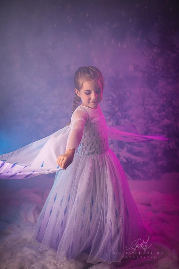 Fantasia Princesa do Gelo - Luxo