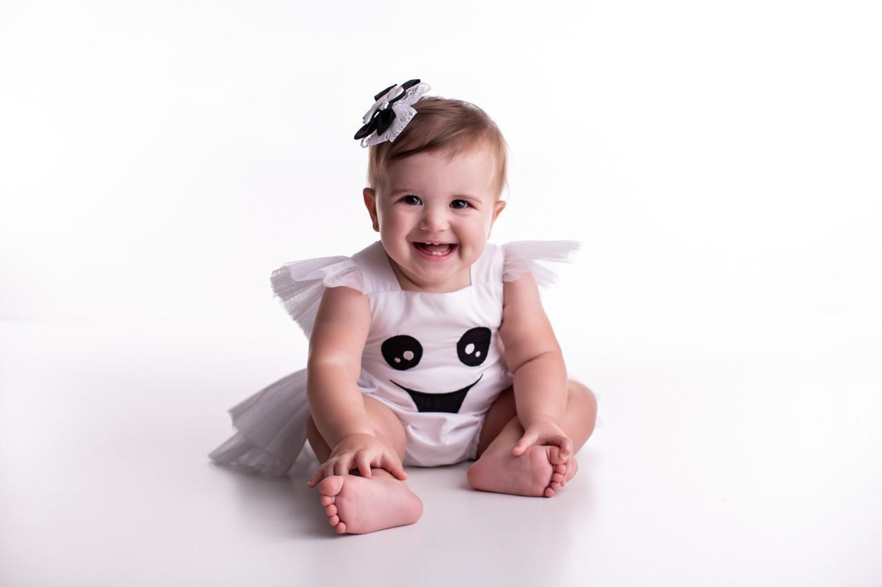 Fantasia Fantasminha Halloween Bebê