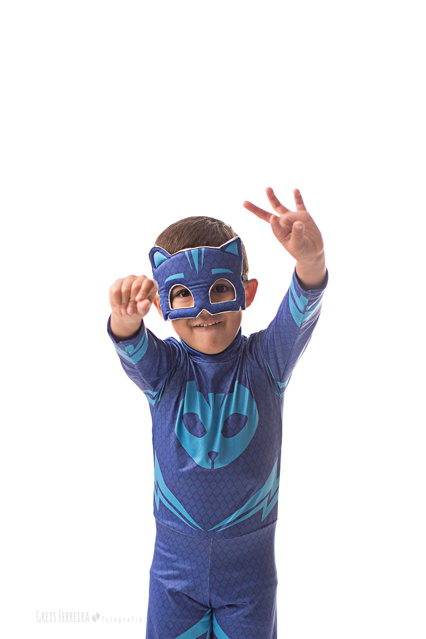 Fantasia PJ Mask Cat Boy - Azul