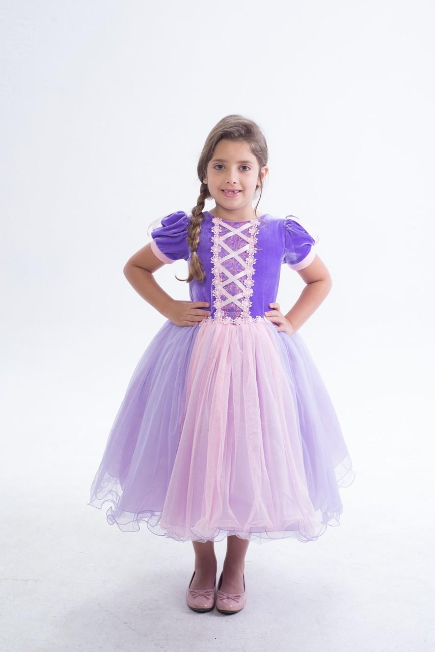Fantasia Princesa Trança - Infantil