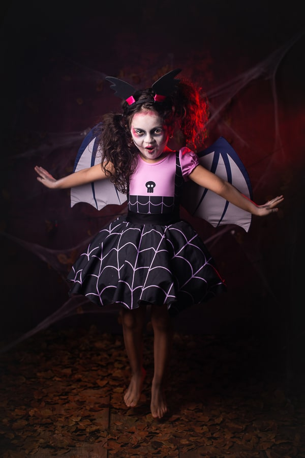 Fantasia Vampirina saia Halloween