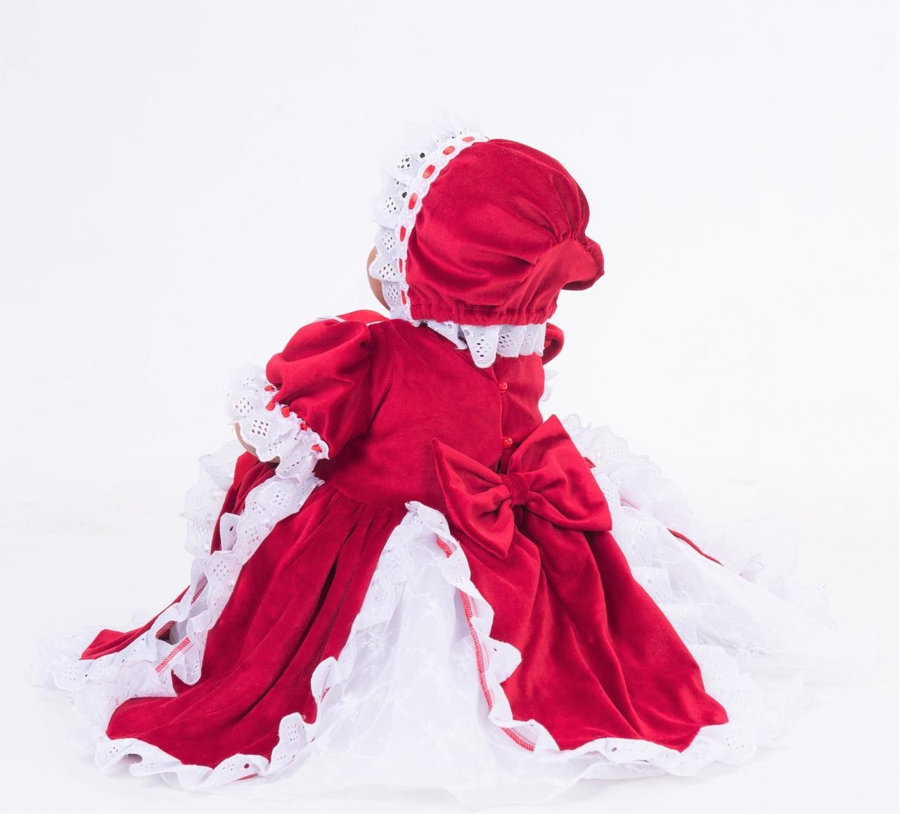 Fantasia Vestido Renda Vintage Natal