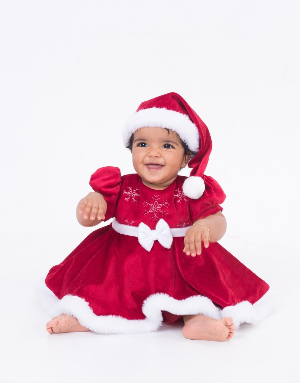 Fantasia Vestido Veludo Natal