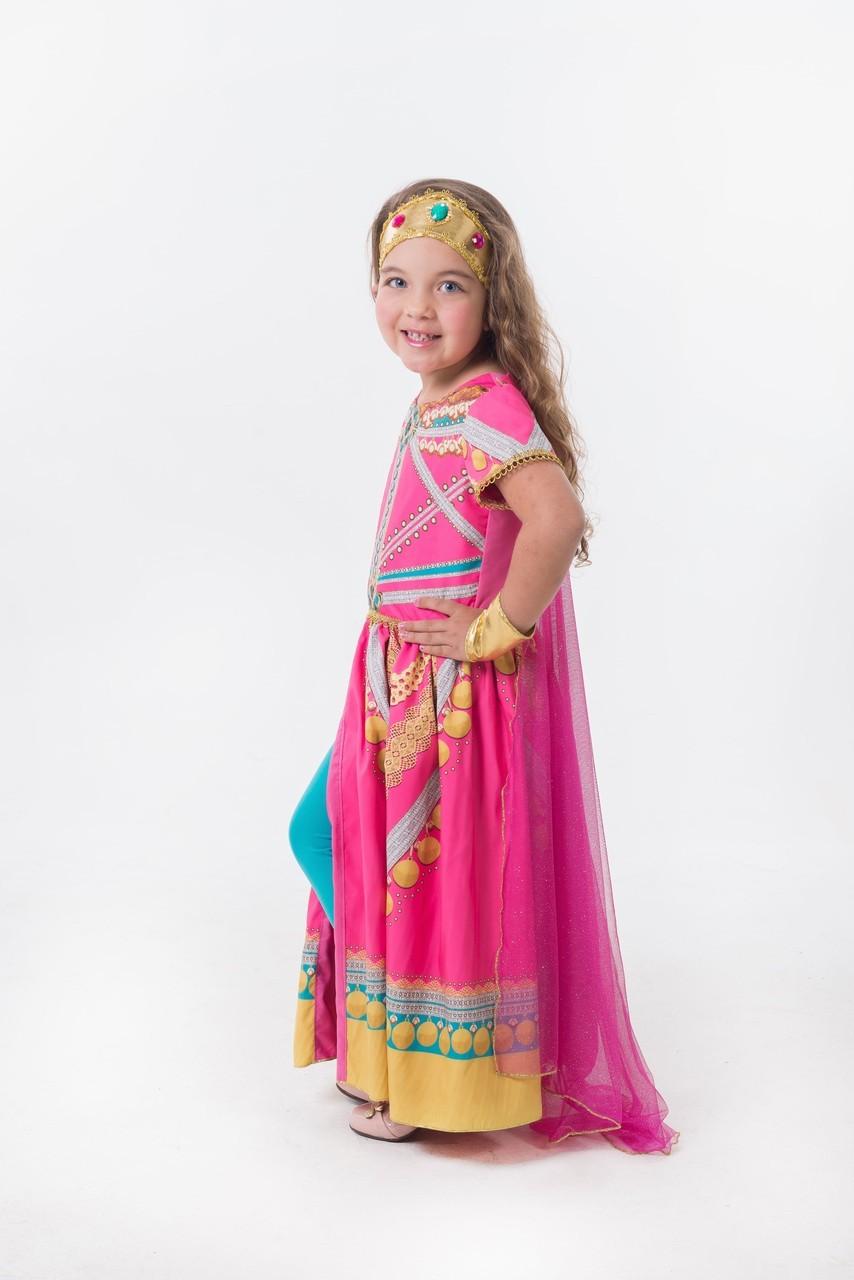Fantasia Princesa Jasmine Rosa Luxo - Aladdin