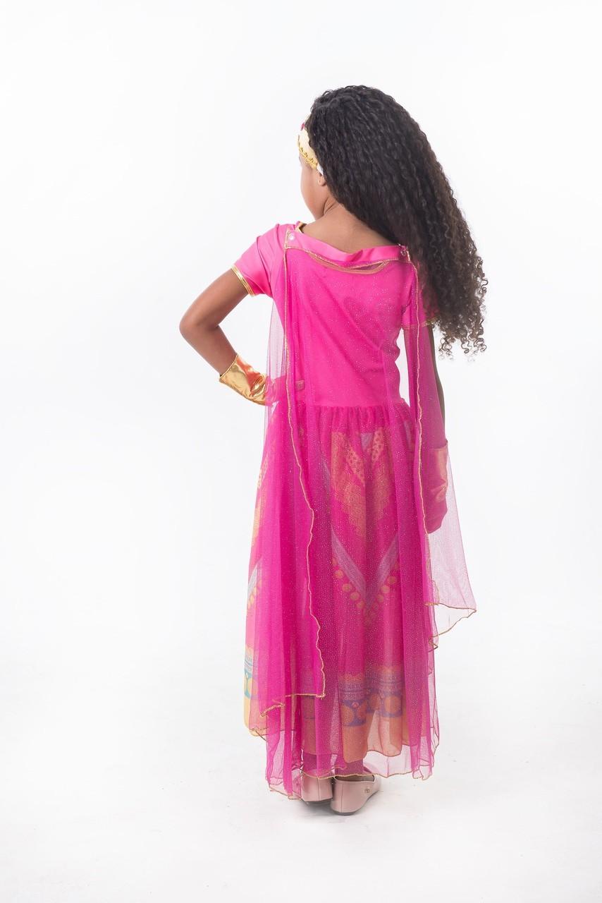 Fantasia Princesa Jasmine Rosa - Aladdin