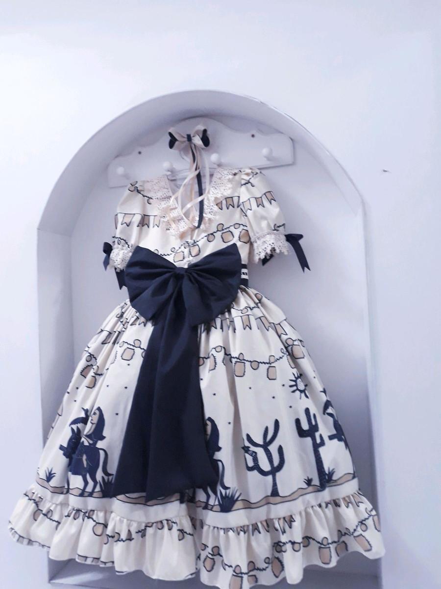 Vestido de quadrilha cordel