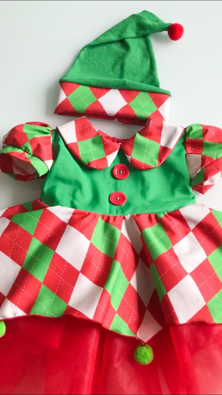 Fantasia Vestido Elfo Natal