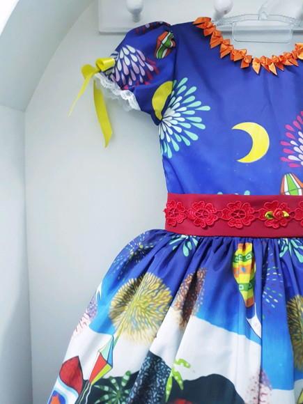 vestido festa junina noite