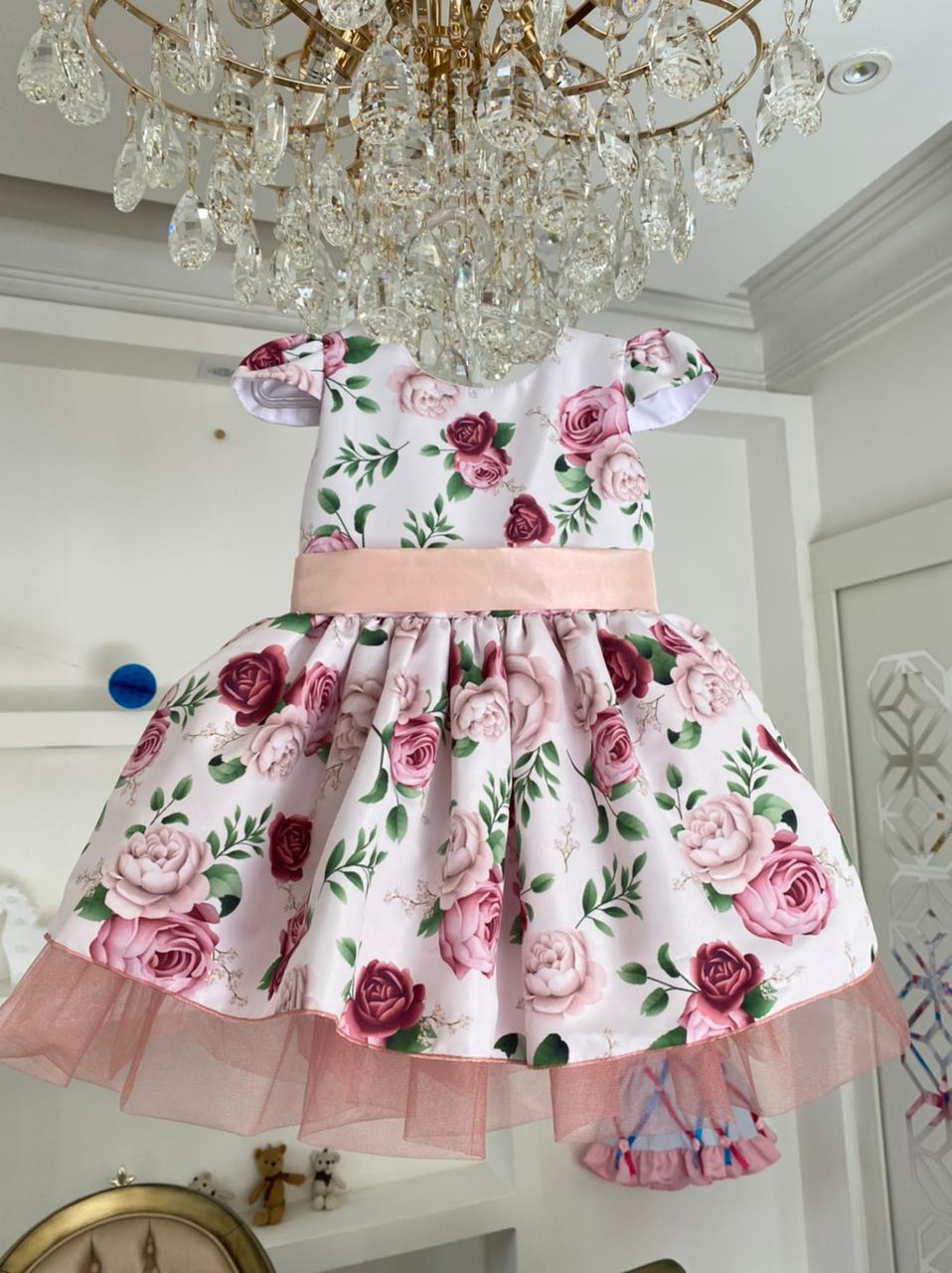 Vestido Florido dama de Honra Mayara